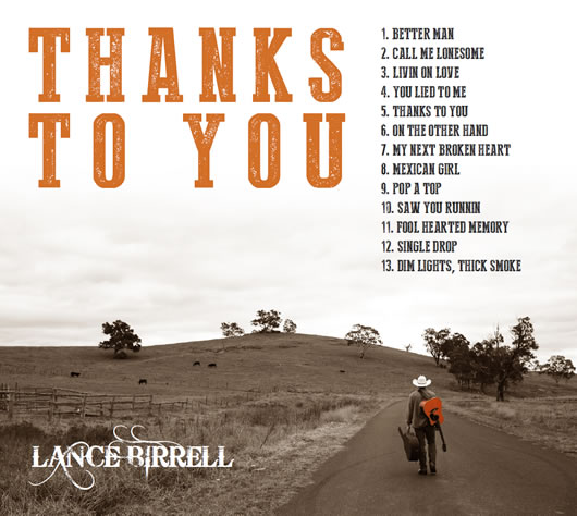 Thanks to you CD Lance Birrell